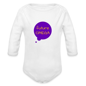 Future Omega Long Purple - Long Sleeve Baby Bodysuit