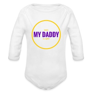 Roo Daddy Que G/P Long - Long Sleeve Baby Bodysuit