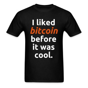Bitcoin Cool Black T Shirt - Men's T-Shirt