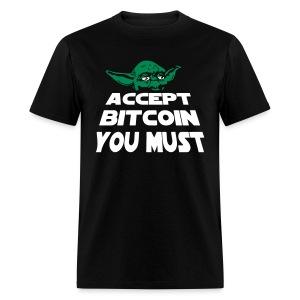 Yoda Accept Bitcoin T Shirt - Men's T-Shirt