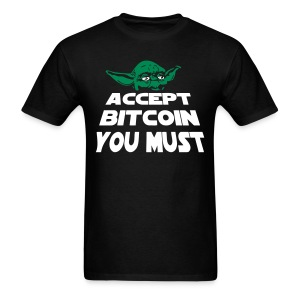 Yoda Accept Bitcoin T Shirt - Men's T-Shirt