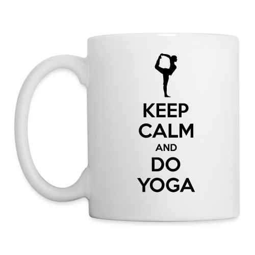 Coffee Mug White - Keep Calm & Do Yoga - Coffee/Tea Mug