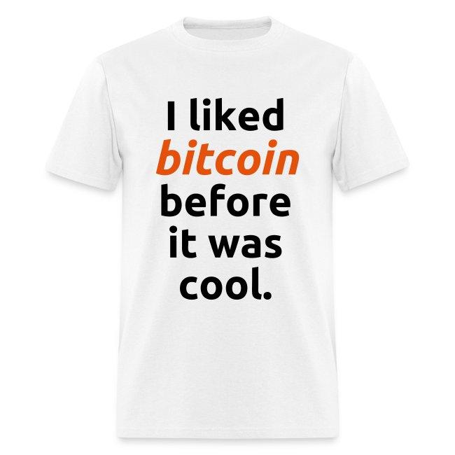 Bitcoin Cool White T Shirt