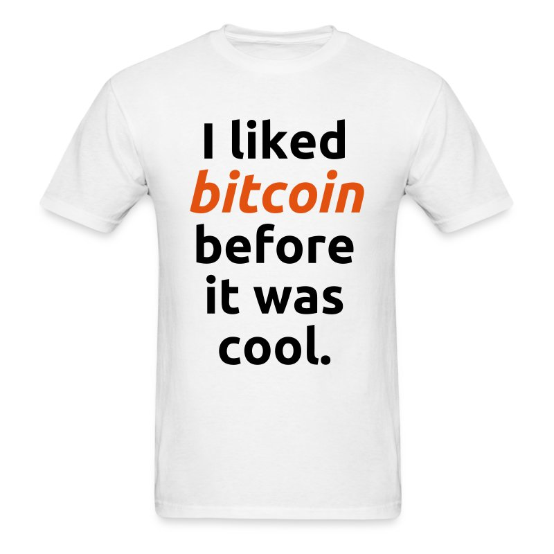 Bitcoin Cool White T Shirt - Men's T-Shirt