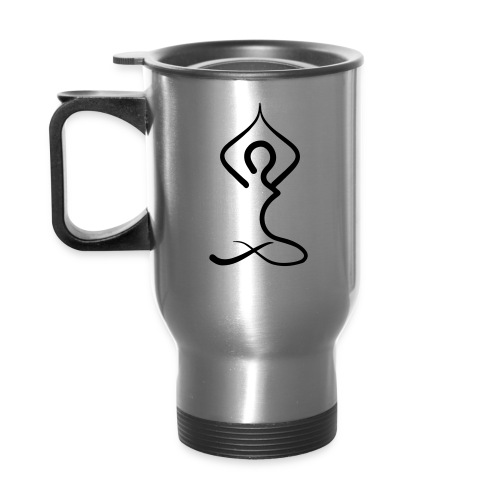 Stainless Steel Thermal Travel Mug - Yoga Pose - Travel Mug