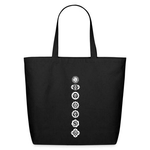 Cotton Tote black - Chakras - Eco-Friendly Cotton Tote