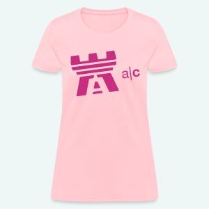 a|c flock print logo tee - Women's T-Shirt