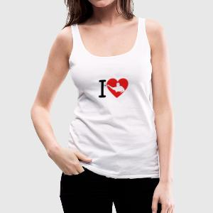 love heart dart 2 Tanks - Women's Premium Tank Top