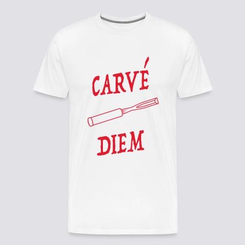 Carvé diem woodcarver's shirt [Men's] - Men's Premium T-Shirt