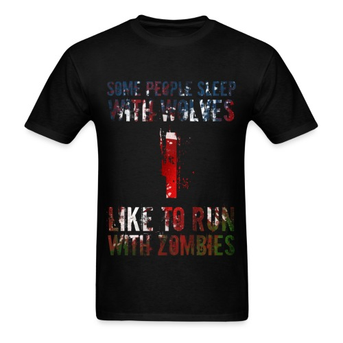 Wolves, Zombies - Men's T-Shirt