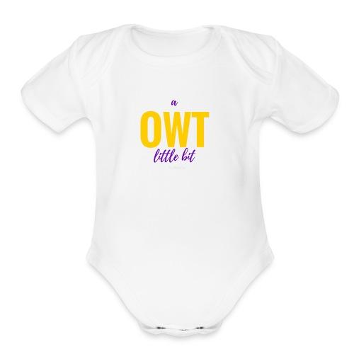 Little Bit OWT   Multi - Organic Short Sleeve Baby Bodysuit