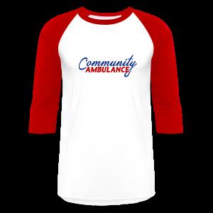 Men's Baseball Tee w/red sleeves - Baseball T-Shirt
