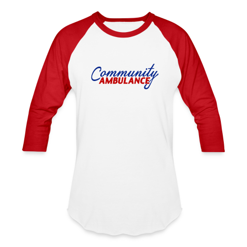 Men's Baseball Tee w/red sleeves - Baseball T-Shirt