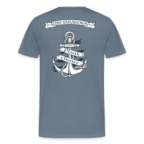 USS SARATOGA PLANK OWNER - Men's Premium T-Shirt
