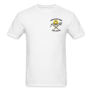 Underground Explorers White Logo Tee with flag - Men's T-Shirt