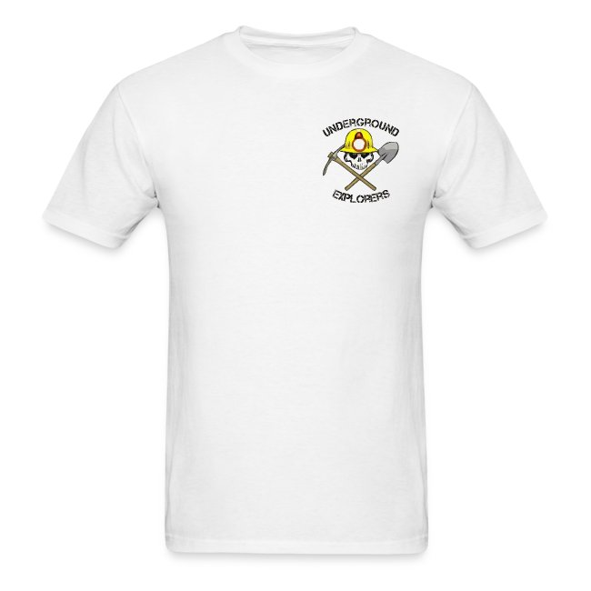 Underground Explorers White Logo Tee with flag