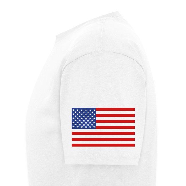 Underground Explorers White Logo Tee with flag