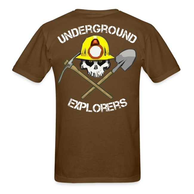 Underground Explorers Brown Logo Tee with flag