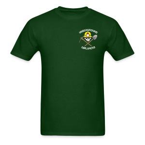 Underground Explorers Green Logo Tee with flag - Men's T-Shirt