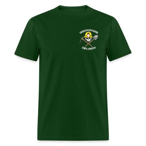 Underground Explorers Green Logo Tee with flag - Men's T-Shirt