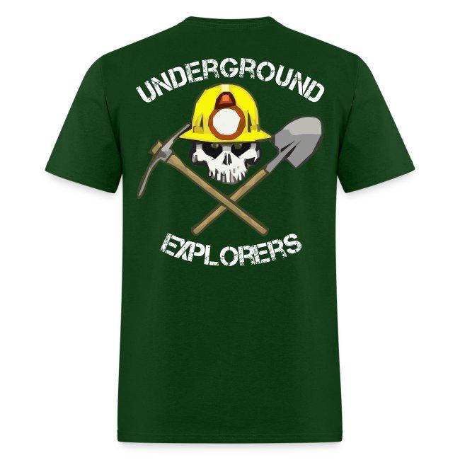 Underground Explorers Green Logo Tee with flag