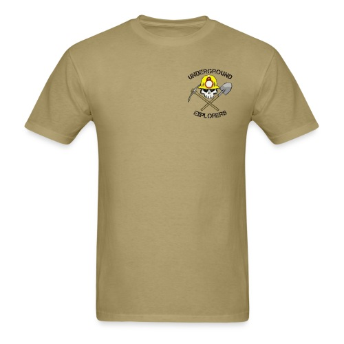 Underground Explorers Khaki Logo Tee with flag - Men's T-Shirt