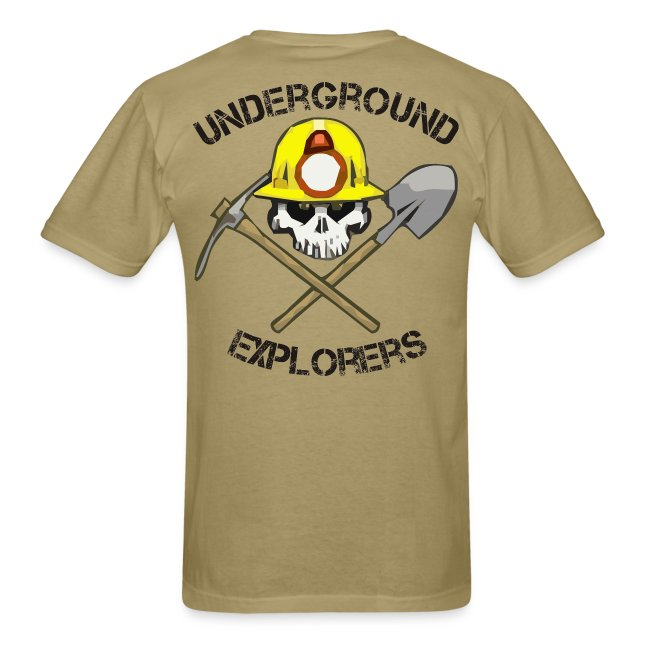 Underground Explorers Khaki Logo Tee with flag