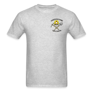 Underground Explorers Heather Gray Logo Tee with flag - Men's T-Shirt