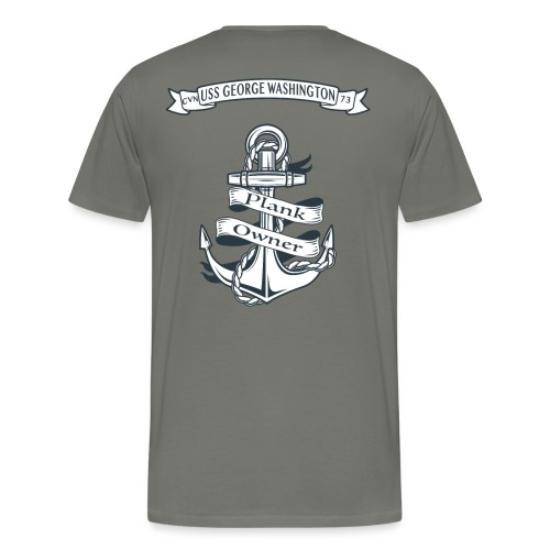 USS GEORGE WASHINGTON PLANK OWNER - Men's Premium T-Shirt