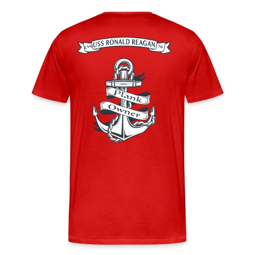 USS RONALD REAGAN PLANK OWNER - Men's Premium T-Shirt