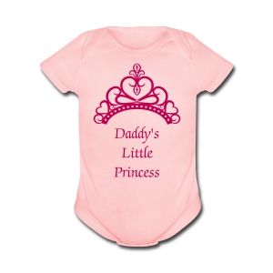 Daddy's Little Princess - Short Sleeve Baby Bodysuit