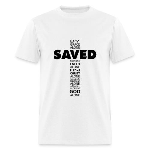 Saved By Grace Cross - Men's T-Shirt