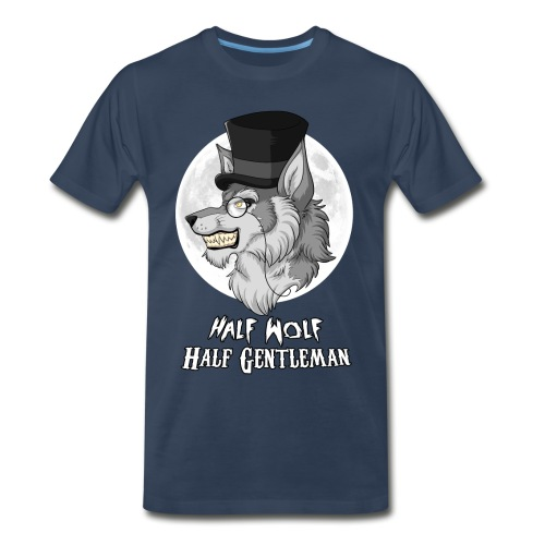 Half Wolf Half Gentleman - Men's Premium T-Shirt - Men's Premium T-Shirt