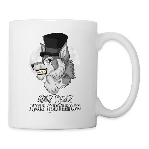 Half Wolf Half Gentleman - White Mug, ver. 2 - Coffee/Tea Mug