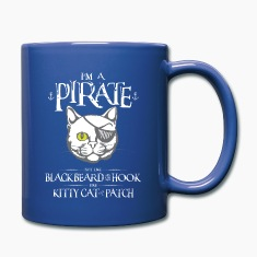 Funny Pirate Kitty Mug