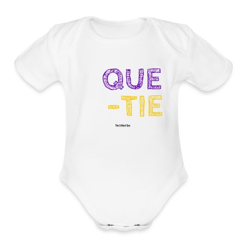 QUE TIE   - Organic Short Sleeve Baby Bodysuit