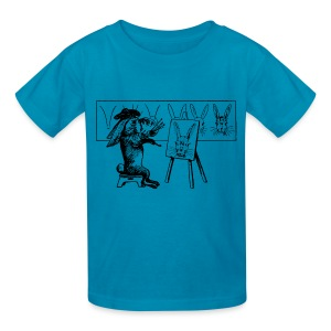 Smash French Rabbit Artist Painter - Kids' T-Shirt