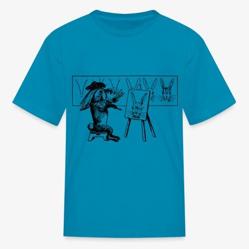 Smash French Rabbit Artist Painter - Kids' T-Shirt