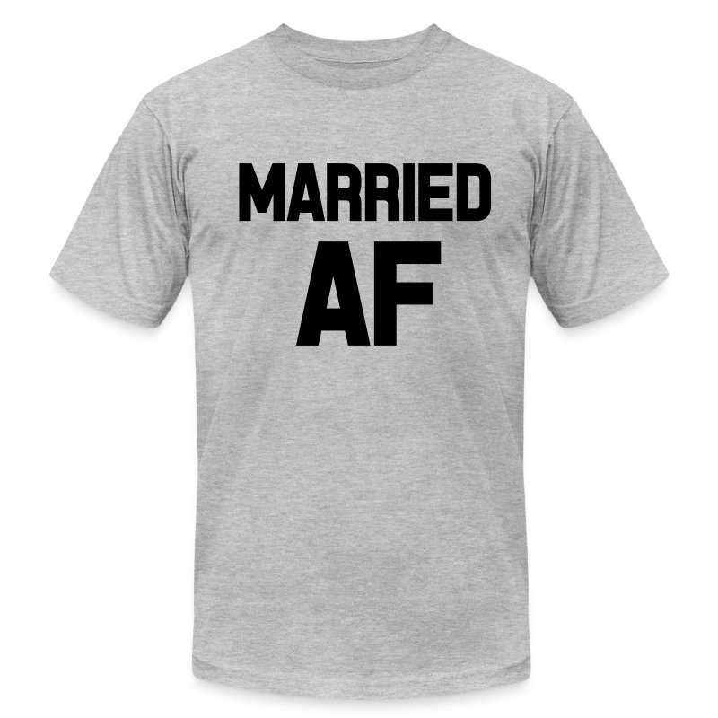 Married af funny saying shirt t shirt spreadshirt for Funny getting married shirts