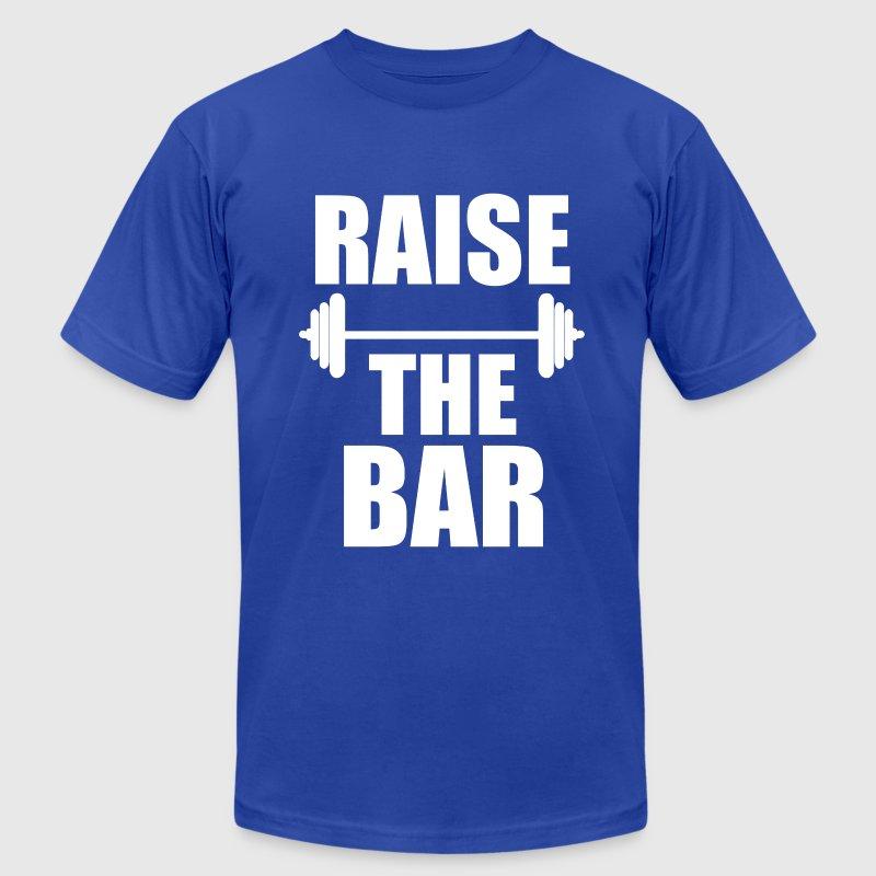 Raise the bar funny fitness gym saying shirt t shirt for Gym shirts womens funny