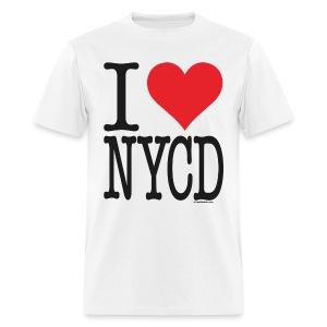 i love nycd (strain) - male  - Men's T-Shirt