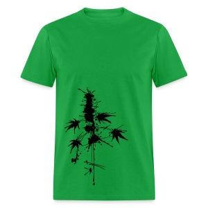 Watercolor Cannabis / a bit of Splatter - male - Men's T-Shirt