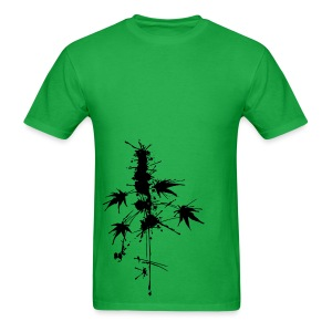 Watercolor Cannabis / a bit of Splatter - male - Men's T-Shirt