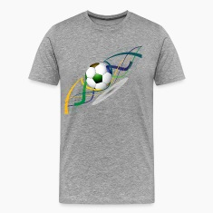 Soccer ball wave art T-Shirts