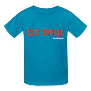 Kids Compete Light Blue Kids T-Shirt - Kids' T-Shirt