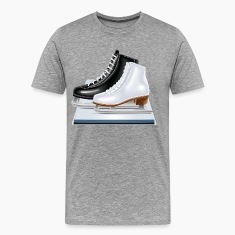 Ice hockey shoes icons T-Shirts