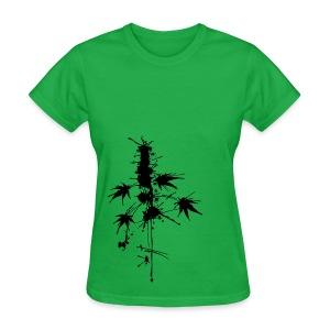 Watercolor Cannabis / a bit of Splatter - female - Women's T-Shirt