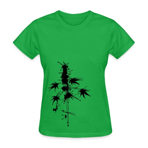Watercolor Cannabis / a bit of Splatter - female - Women's T-Shirt