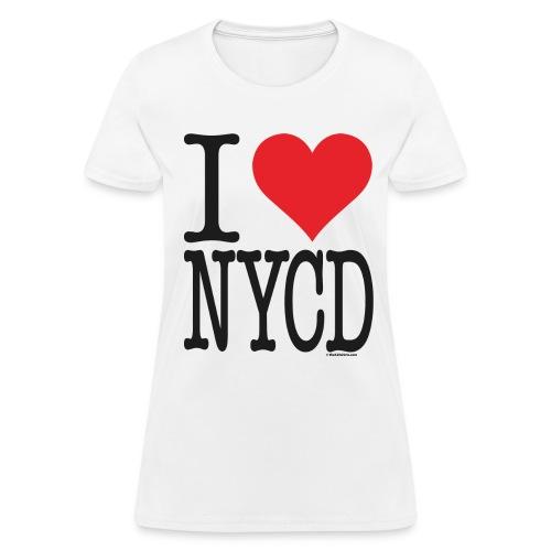i love nycd (strain) - female  - Women's T-Shirt