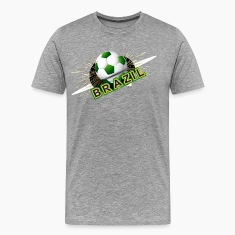 Soccer beautiful texture with brazil colors T-Shirts
